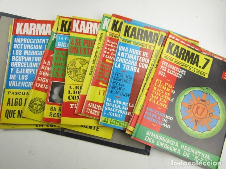 Coleccionismo de Revistas y Periódicos: Lote de revistas Karma 7, años 1974, 1975, 1976, 1977, 1978. - Foto 2 - 148902254