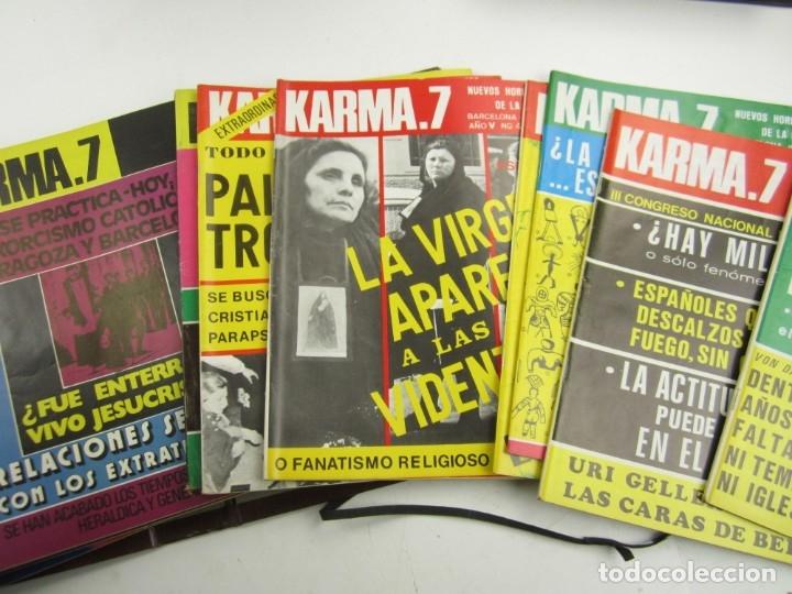 Coleccionismo de Revistas y Periódicos: Lote de revistas Karma 7, años 1974, 1975, 1976, 1977, 1978. - Foto 3 - 148902254