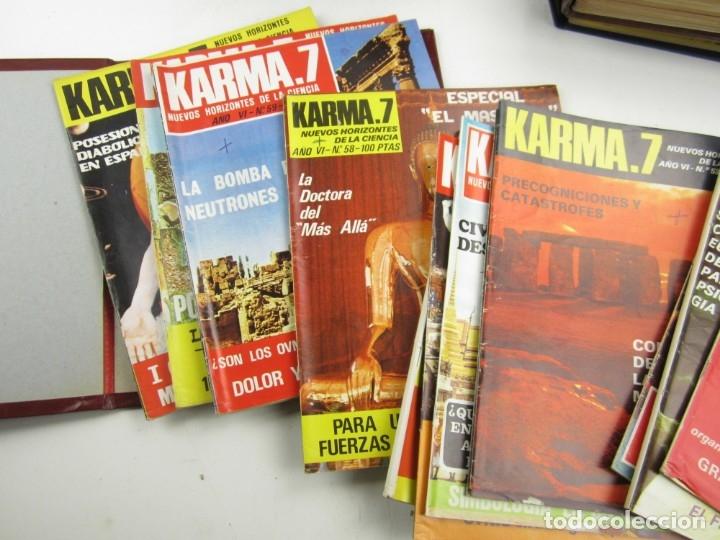 Coleccionismo de Revistas y Periódicos: Lote de revistas Karma 7, años 1974, 1975, 1976, 1977, 1978. - Foto 4 - 148902254