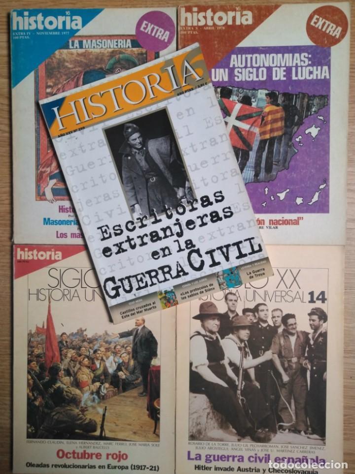 LOTE 5 REVISTAS HISTORIA 16 (Coleccionismo - Revistas y Periódicos Modernos (a partir de 1.940) - Otros)
