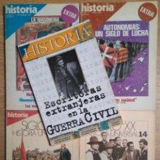 Coleccionismo de Revistas y Periódicos: LOTE 5 REVISTAS HISTORIA 16. Lote 148947642