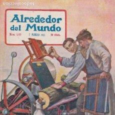 Colecionismo de Revistas e Jornais: REVISTA ALREDEDOR DEL MUNDO – 1921 * SORDOMUDOS Y CIEGOS * ORFEÓ CATALÀ* CAZA FUENFRÍA * . Lote 148998158