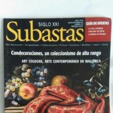 Coleccionismo de Revistas y Periódicos: REVISTA SUBASTAS SIGLO XXI N 86 AGOSTO 2007. Lote 149001061
