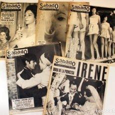 Coleccionismo de Revistas y Periódicos: LOTE DE 5 REVISTAS SABADO GRAFICO DE 1964. Lote 149050310