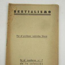 Coleccionismo de Revistas y Periódicos: BESTIALISMO, CUADERNOS VIDA SEXUAL, NÚM. 7, LEÓNIDES STORM. 20X14CM. Lote 149079722