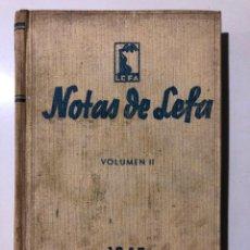 Coleccionismo de Revistas y Periódicos: 22 NÚMEROS DE LA REVISTA NOTAS DE LEFA. AÑO II. 1945. NÚMERO 1 AL 22. . Lote 149213398
