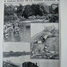 Coleccionismo de Revistas y Periódicos: HOJA REVISTA ORIGINAL 1915. GUERRA EUROPEA VILNA DUENABURGO. Lote 149290806