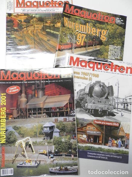 LOTE 4 REVISTAS MAQUETREN (Coleccionismo - Revistas y Periódicos Modernos (a partir de 1.940) - Otros)