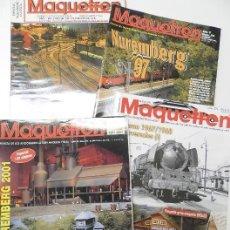 Coleccionismo de Revistas y Periódicos: LOTE 4 REVISTAS MAQUETREN. Lote 149307358