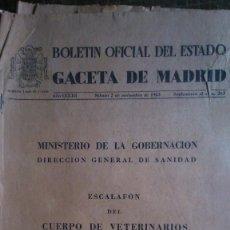 Coleccionismo de Revistas y Periódicos: BOE 2 NOVIEMBRE 63. Lote 149359322
