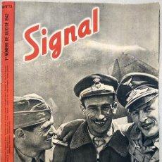 Coleccionismo de Revistas y Periódicos: SIGNAL. 1ER NÚMERO DE JULIO DE 1942. SP Nº 13, 36 PÁGINAS. INFORMACIÓN GRÁFICA II GUERRA MUNDIAL. Lote 149362026