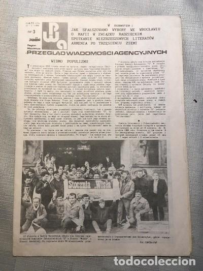 PRZEGLĄD WIADOMOŚCI AGENCYJNYCH, N. 3, 20/01/1989 [SAMIZDAT, POLONIA, SOLIDARNOŚC] (Coleccionismo - Revistas y Periódicos Modernos (a partir de 1.940) - Otros)