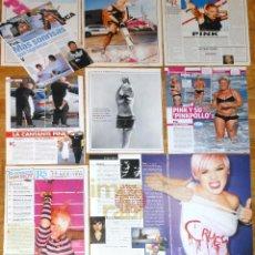Coleccionismo de Revistas y Periódicos: PINK LOTE PRENSA SPAIN CLIPPINGS MAGAZINE ARTICLES SEXY NUDE PHOTOS FEMALE SINGER. Lote 149718470