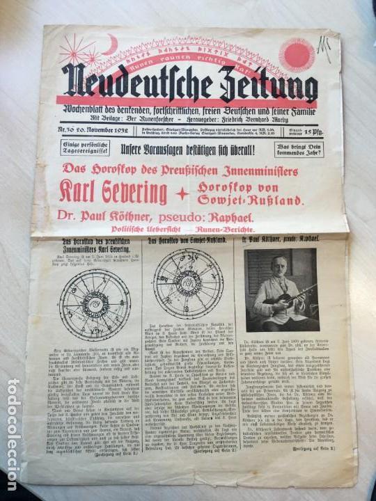 NEUDEUTSCHE ZEITUNG : WOCHENBLATT DES DENKENDEN, FORTSCHRITTLICHEN, FREIEN DEUTSCHEN... (Coleccionismo - Revistas y Periódicos Antiguos (hasta 1.939))