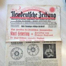 Coleccionismo de Revistas y Periódicos: NEUDEUTSCHE ZEITUNG : WOCHENBLATT DES DENKENDEN, FORTSCHRITTLICHEN, FREIEN DEUTSCHEN.... Lote 149811170