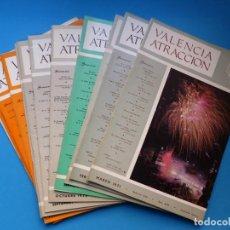 Coleccionismo de Revistas y Periódicos: VALENCIA ATRACCION - 12 REVISTAS DIFERENTES - AÑOS 1970-1980, VER FOTOS ADICIONALES. Lote 149944474