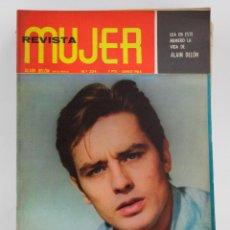 Coleccionismo de Revistas y Periódicos: REVISTA MUJER, ALAIN DELÓN, NÚM. 324, 1964, JUNIO. 30,5X21,5CM. Lote 150096454