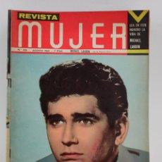 Coleccionismo de Revistas y Periódicos: REVISTA MUJER, MICHAEL LANDON, NÚM. 326, 1964, AGOSTO. 30,5X21,5CM. Lote 150096522