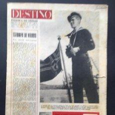 Coleccionismo de Revistas y Periódicos: Nº 214 DE LA REVISTA DESTINO 23 AGOSTO DE 1941, INFORMACIÓN Y FOTOGRAFIAS DE LA 2ª GUERRA MUNDIAL. Lote 150200846