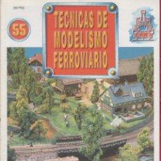 Coleccionismo de Revistas y Periódicos: REVISTA TECNICAS DE MODELISMO FERROVIARIO N.55. Lote 150210686