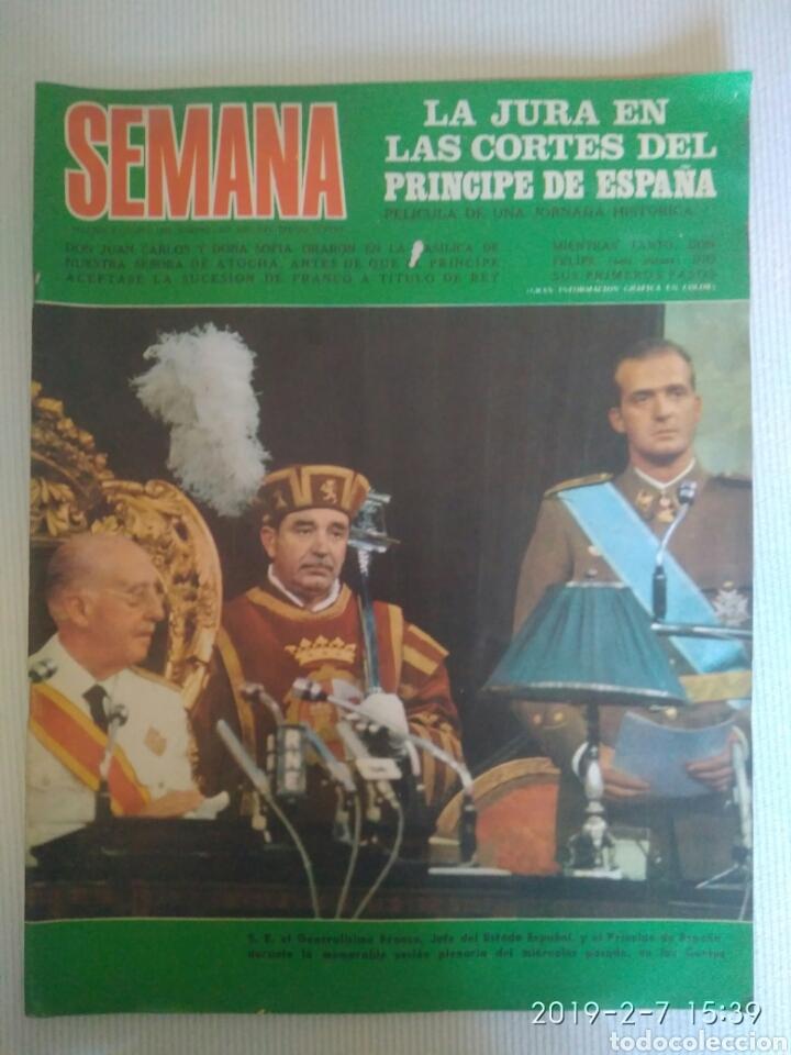 REVISTA SEMANA 2 AGOSTO 1969.N 1537 .JURA EL CORTES CON PRINCIPE.VITTORIO GASSMAN. VER FOTOS (Coleccionismo - Revistas y Periódicos Modernos (a partir de 1.940) - Otros)