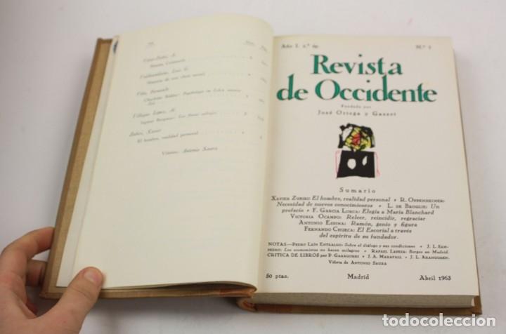 Coleccionismo de Revistas y Periódicos: Revista de Occidente, Ortega y Gasset, años 1963 -1964, 5 tomos. 22x15,5cm - Foto 2 - 150324182