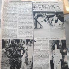 Coleccionismo de Revistas y Periódicos: RECORTE REVISTA- LOLA FORNER MISS ESPAÑA. Lote 150345566