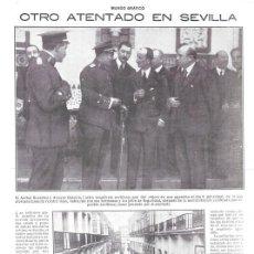 Collezionismo di Riviste e Giornali: 1920 HOJA REVISTA SEVILLA ATENTADO ANARQUISTA CONTRA ARQUITECTO ANIBAL GONZÁLEZ ÁLVAREZ OSSORIO . Lote 150400106