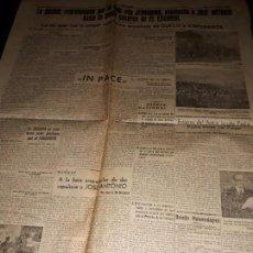 Coleccionismo de Revistas y Periódicos: DIARIO LEVANTE VIERNES 1 DICIEMBRE 1939 PAGINA 3 Y 4. Lote 150566278