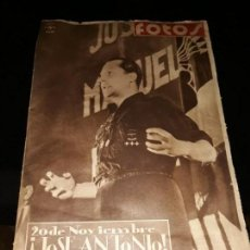 Coleccionismo de Revistas y Periódicos: FOTOS. SEMANARIO GRÁFICO NACIONALSINDICALISTA. Nº 142. 18-11-1939. 20 DE NOVIEMBRE. ¡JOSÉ ANTONIO!. Lote 150582962