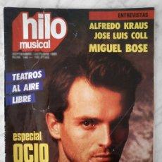 Coleccionismo de Revistas y Periódicos: HILO MUSICAL - 1985 - MIGUEL BOSE, RUPERT EVERETT, ALFREDO KRAUS, LUZ CASAL, ANGELA CARRASCO. Lote 49783666