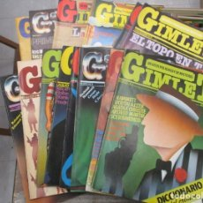 Coleccionismo de Revistas y Periódicos: COLECCION COMPLETA GIMLET - REVISTA POLICIACA Y DE MISTERIO - VAZQUEZ MONTALBAN - 1981. Lote 150806238