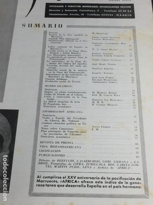 Coleccionismo de Revistas y Periódicos: revista áfrica fundada por franco nº 129 130 septiembre octubre años 1952 madrid - Foto 2 - 150915750