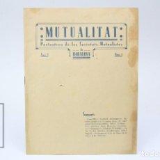 Coleccionismo de Revistas y Periódicos: ANTIGUA PUBLICACIÓN EN CATALÁN - SOCIETATS MUTUALISTES DE BADALONA - COOPERATIVA GERMANOR - AÑO 1934. Lote 150963346