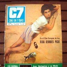 Coleccionismo de Revistas y Periódicos: CINE EN 7 DIAS / JEAN SHRIMPTON, OLGA GEORGES PICOT, RAPHAEL, ROCIO DURCAL, EUROVISION, LAS LEANDRAS. Lote 150968386