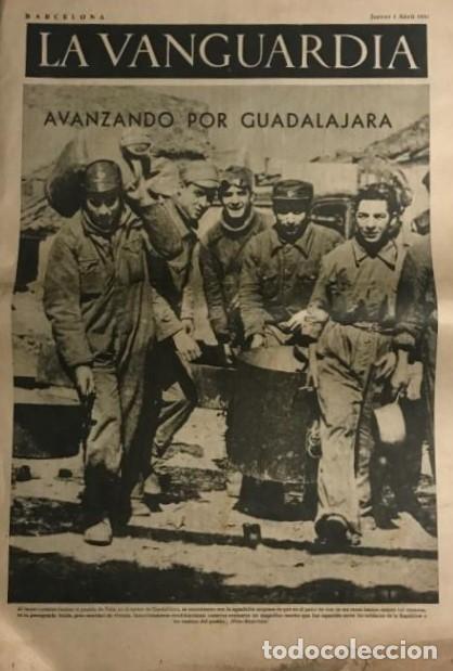 LA VANGUARDIA 1937. GUERRA CIVIL ESPAÑOLA. GUADALAJARA. YELA. BELCHITE. LECERA. (Coleccionismo - Revistas y Periódicos Antiguos (hasta 1.939))
