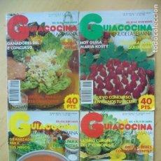 Coleccionismo de Revistas y Periódicos: LOTE 4 REVISTAS GUIACOCINA (AÑOS 80) NOS 30, 37, 41, 43. Lote 151086362
