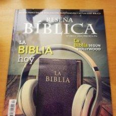Coleccionismo de Revistas y Periódicos: RESEÑA BÍBLICA Nº 100 (LA BIBLIA SEGÚN HOLLYWOOD / HERMENÉUTICA LATINOAMERICANA / BIBLIA Y CIENCIA). Lote 151109842
