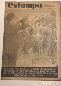 Revista Estampa. Año IX. Nº 464. 12 de Diciembre de 1936. Guerra Civil Española