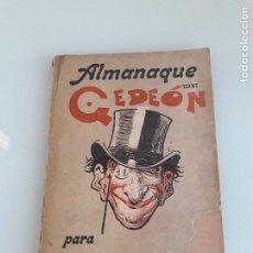 Coleccionismo de Revistas y Periódicos: ALMANAQUE DE GEDEÓN PARA 1901 - MADRID - 1901. Lote 151159750