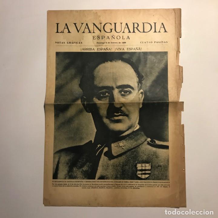 Coleccionismo de Revistas y Periódicos: 1939 La Vanguardia. Franco. José Antonio Primo de Rivera. 4 páginas - Foto 2 - 148843730
