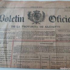 Coleccionismo de Revistas y Periódicos: ALICANTE. BOLETÍN OFICIAL. 1927. Lote 151232396