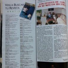 Coleccionismo de Revistas y Periódicos: CAYETANA DUQUESA DE ALBA JESUS AGUIRRE IBIZA . Lote 151326282