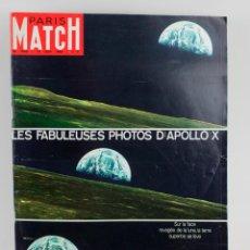 Coleccionismo de Revistas y Periódicos: REVISTA PARIS MATCH, EL COHETE APOLLO X, NÚM. 1049, 14 JUNIO, 1969. EN FRANCÉS. 34,5X26,5CM. Lote 151365006