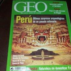 Coleccionismo de Revistas y Periódicos: REVISTA GEO N° 194 AÑO 2003 PERÚ ARQUEOLOGÍA RUINAS CARAL MOMIAS PURUCHUCO HUACA DE LA LUNA LÍNEAS. Lote 151499730