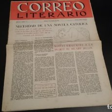 Coleccionismo de Revistas y Periódicos: CORREO LITERARIO AÑO IV NUM 77 - 1 AGOSTO 1953 - NECESIDAD DE UNA NOVELA CATÓLICA . Lote 151528214