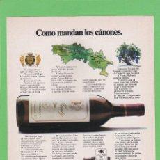 Coleccionismo de Revistas y Periódicos: PUBLICIDAD 1975. ANUNCIO BODEGAS MONTECILLO, LA RIOJA. Lote 151533858