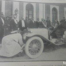 Coleccionismo de Revistas y Periódicos: ALFONSOXIII CON SU NUEVO AUTOMOVIL HISPANO SUIZA 45 H.P MOTOR INTENSIVO HOJA REVISTA AÑO 1910. Lote 151538202