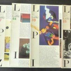 Coleccionismo de Revistas y Periódicos: LOT 6 LÁPIZ REVISTA MENSUAL DE ARTE 1985 1992 INTERNACIONAL DE ARTE. AÑO III, NÚM. 25, 1985; AÑO IV,. Lote 151542934