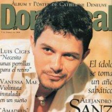 Coleccionismo de Revistas y Periódicos: EL DOMINICAL ALEJANDRO SANZ 8 PAGINAS 11 FOTOS - CATHERINE DENEUVE (POSTER) VER SUMARIO ENERO 1999. Lote 151547866